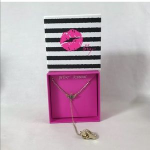 Betsey Johnson Necklace Pave Wanderlust Whistle
